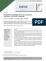 Evaluación de la fiabilidad del SF-36 en pacientes colombianos con artritis reumatoide