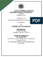 Land Law Ashwani Singh