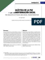 La Dialéctica de la paz y la transformación social Eugene Gogol