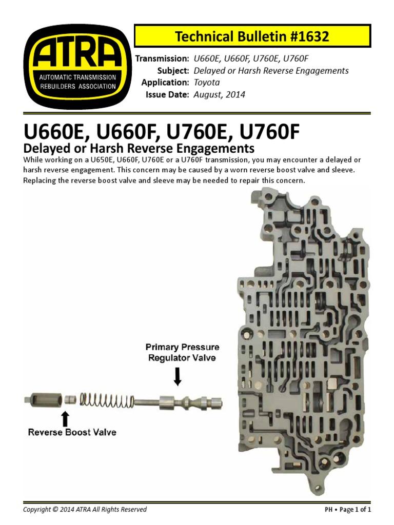 U660 760 Delayed Harsh Engagements ATRA | Transmission