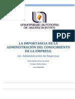 LA IMPORTANCIA DE LA ADMINISTRACIÓN DEL CONOCIMIENTO DE LA EMPRESA