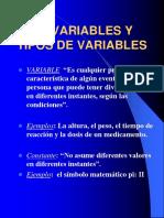 1.4 Variables Tipos Variables