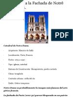 Comentario Fachada de Notre Dame