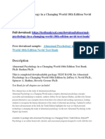Abnormal Psychology in a Changing World 10th Edition Nevid Test Bank