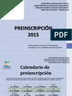 Preinscripcion Guia s.e.p. Sicep. 2015-2016