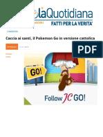 Caccia Ai Santi, Il Pokemon Go in Versione Cattolica