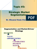 CHAPTER 3 Strategic Market Segmentation