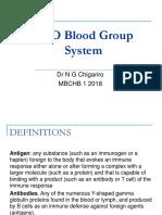 ABO System Mbchb 1