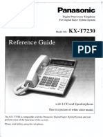 Panasonic Conference Phone KX -T7230 Reference Guide