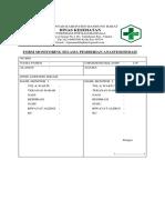 Formulir Monitoring Selama Anestesi
