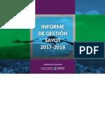 Informe de Gestión SAyOT 2017-2018