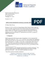 NHMC Application for Review 11.14.2017
