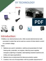 Battery Technology & Fuel Cells