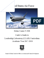 T-508 Cadet's Guide to Leadership Laboratory Curriculum