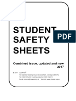 Student Safety Sheets ALL