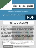 ADSORCIÓN DE SO2 EN H2SO4 DILUIDO