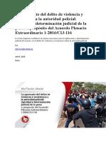 La Agravante Del Delito de Violencia y Resistencia a La Autoridad Policial