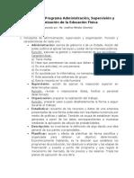 Desarrollo Del Programa Adm Sup Org Ed. Fis.