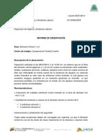 Informe Del Almacen Central Camp. Uverito