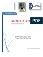 Ambroise Gasmaelo, Tarea de Investigacion.(Ingenieria Economica)