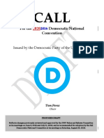 2020 Draft Call for Democratic National Convention