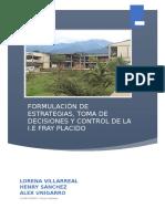 FORMULACIÓN DE ESTRATEGIAS, TOMA DE DECISIONES Y CONTROL DE LA I.E FRAY PLACIDO 1.docx