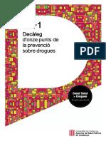Decàleg d'onze punts de la prevenció sobre drogues