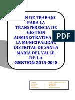 Plan de Trabajo Transferencia