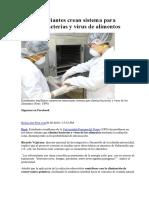 Eliminacion de Parasitos de Alimentos Por Exposicion Ultravioleta