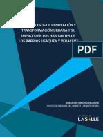 Los Procesos de Renovación y Transofrmacion Urbana y Su Impacto en Los Habitantes de Los Barrios Usaquén y Veracruz