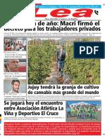 Periódico Lea Martes 13 de Noviembre Del 2018