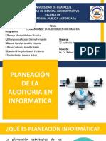 PLANEACIÓN DE LA AUDITORIA EN INFORMATICA