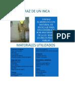 Disfraz de Inca Sin Material de Con Reciclaje FABRISIO