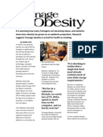 Teenage Obesity - Feature Article