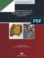 Arqueometría de los materiales cerámicos de época medieval.
