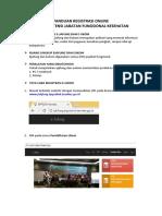 Panduan Registrasi Online Uji Kompetensi