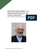 """Reflexiones sobre """"La debilidad política de los católicos"""""""