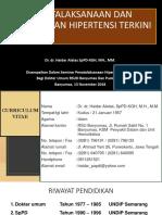 Penatalaksanaan Dan Pengobatan Hipertensi Terkini 13-11-18
