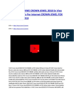 Wwe Crown Jewel 2018 en Vivo Online Gratis Tv 1