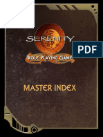 Serenity RPG - Master Index (Colour)