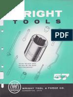 Wright Tools Catalog 57 1956