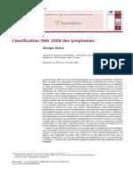 Classification OMS 2008 Des Lymphomes