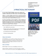 Catalan Practical Dictionary Press Release