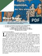 LA Comunión, El Maná de Los Elegidos (54) Hora Santa Con San Pedro Julián Eymard.