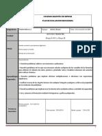 Plan de Evaluacion Matematicas 2A 2B SEGUNDO TRIMESTRE 2018 2019