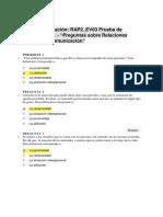 Realizar Evaluación RAP2_EV03 Prueba de Conocimiento. - Preguntas Sobre Relaciones Humanas y Comunicación