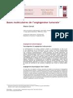 Bases Moléculaires de l'Angiogenèse Tumorale