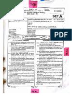CGPSC Prelims Exam 2016 Paper I