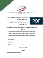 Estructura de Informe de Ppp 2018