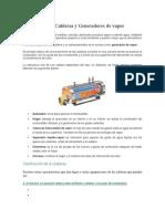 Descripción de Calderas y Generadores de Vapor